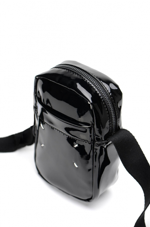 MAISON MARGIELA Black PU Crossbody Bag 3