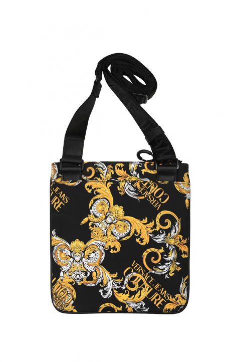 VERSACE JEANS COUTURE Saffiano Print Flat Large Crossbody Bag 1