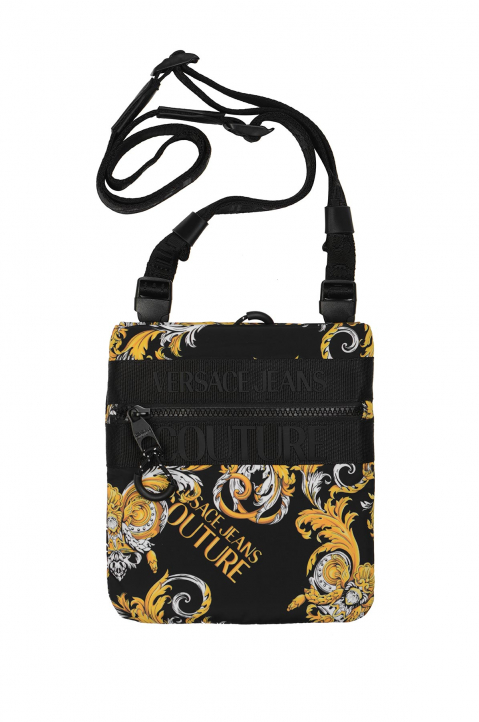 VERSACE JEANS COUTURE Flat Small Saffiano Print Crossbody Bag 0