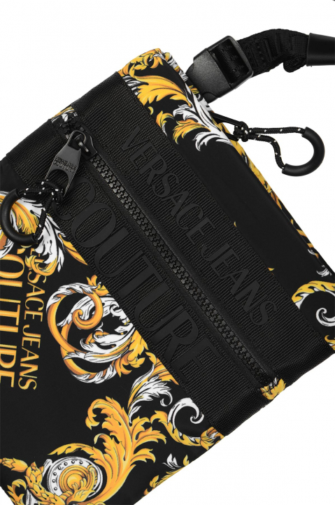 VERSACE JEANS COUTURE Flat Small Saffiano Print Crossbody Bag 2