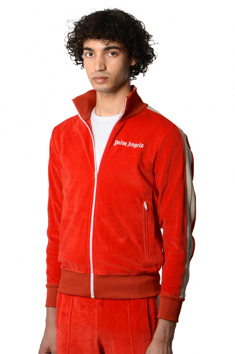 PALM ANGELS Chenille Red Track Jacket 0