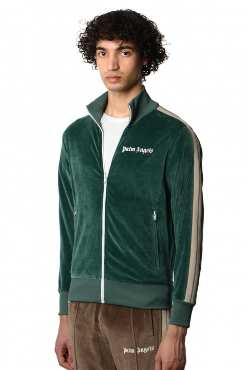 PALM ANGELS Chenille Pine Green Jacket  0