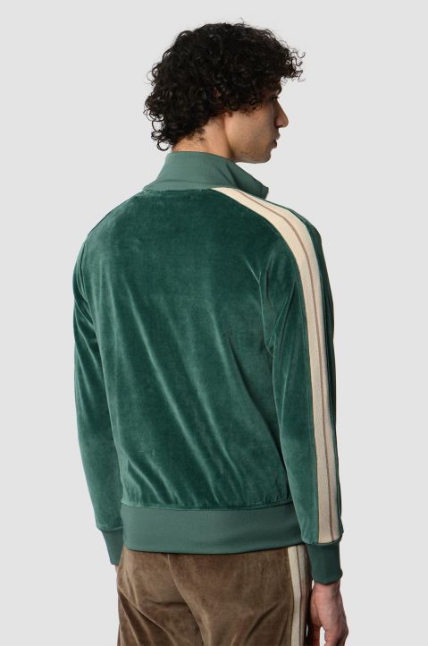 PALM ANGELS Chenille Pine Green Jacket  1