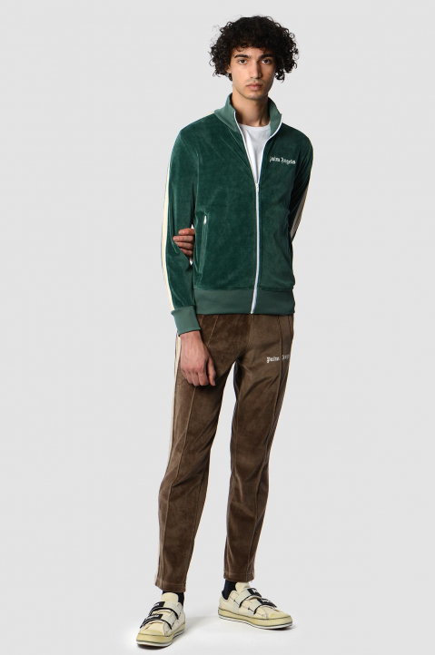 PALM ANGELS Chenille Pine Green Jacket  3