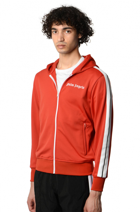 PALM ANGELS Red Hooded Track Jacket  0