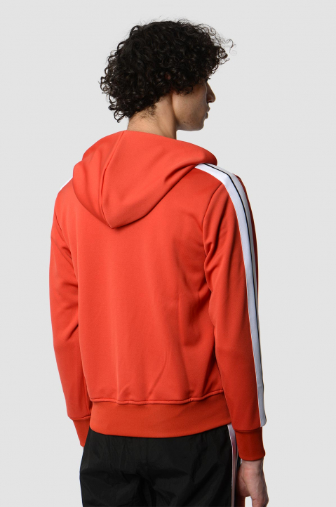 PALM ANGELS Red Hooded Track Jacket  1