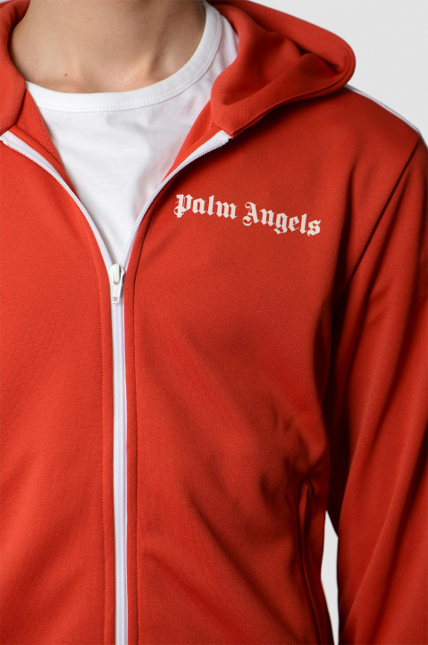 PALM ANGELS Red Hooded Track Jacket  2