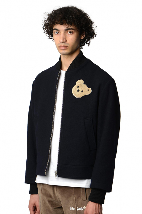 PALM ANGELS Navy Bear Jacket 0