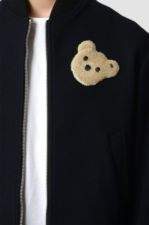 PALM ANGELS Navy Bear Jacket 2