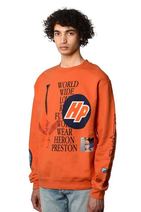 HERON PRESTON Collage Orange Sweatshirt 0