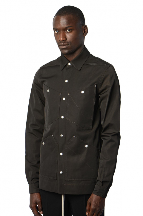 RICK OWENS Performa Black Outershirt 0