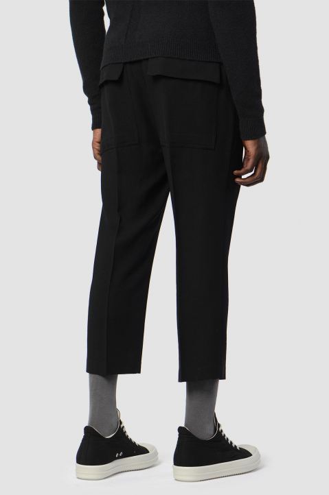 RICK OWENS Slim Cropped Astaires Trousers 1