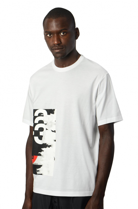 Y-3 White Graphic Tee 0