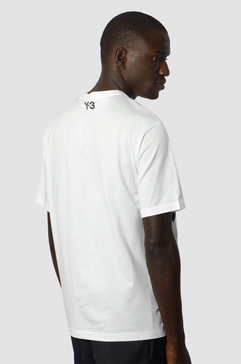 Y-3 White Graphic Tee 1