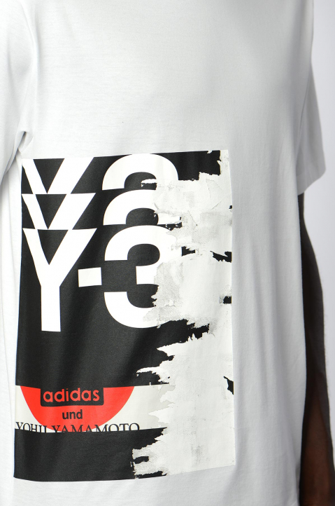 Y-3 White Graphic Tee 2