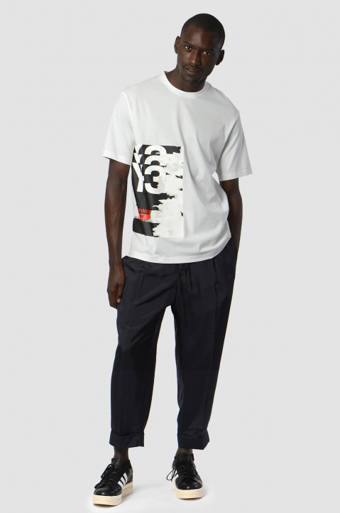 Y-3 White Graphic Tee 3