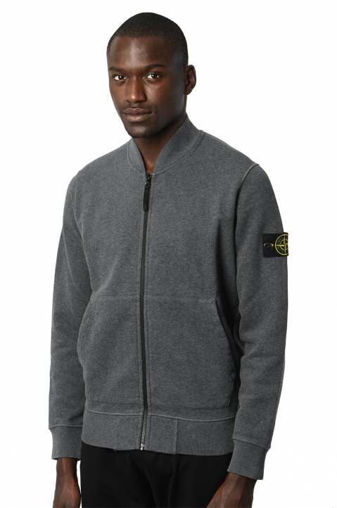 STONE ISLAND Fleece Grey Jacket  0