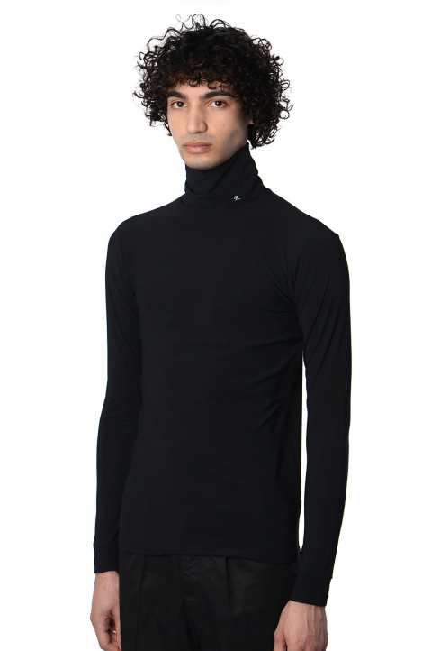 RAF SIMONS Slim Black Turtleneck 0