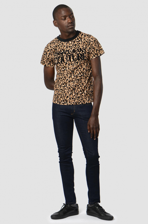 VERSACE JEANS COUTURE Logo Leopard Tee 2