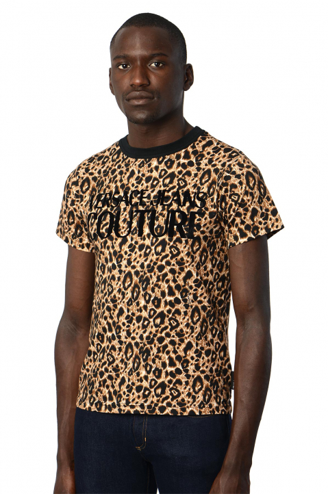 VERSACE JEANS COUTURE Logo Leopard Tee 0