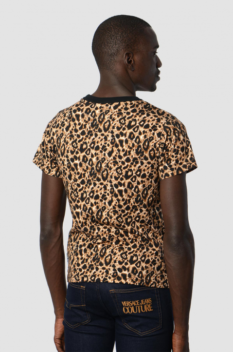 VERSACE JEANS COUTURE Logo Leopard Tee 1