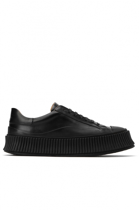 JIL SANDER Black Vulcanized Sneakers 0