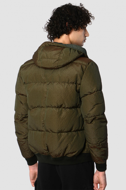 STONE ISLAND Musk Green Poly-Colour Down Jacket 1