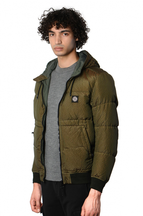 STONE ISLAND Musk Green Poly-Colour Down Jacket 0