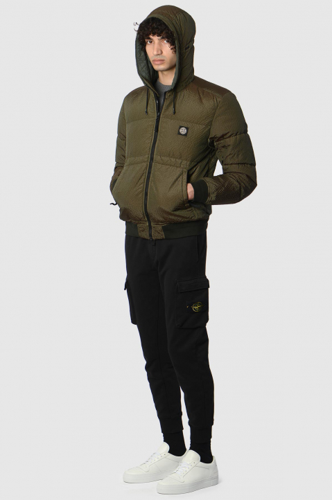 STONE ISLAND Musk Green Poly-Colour Down Jacket 3