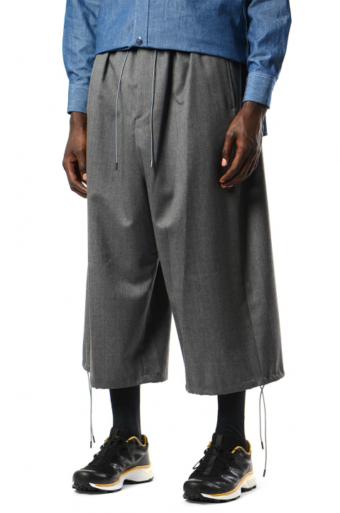 FUMITO GANRYU Grey Cropped Pants 0
