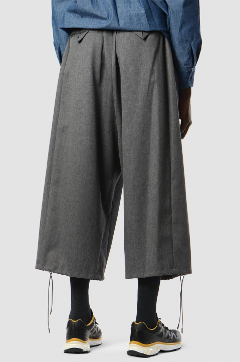 FUMITO GANRYU Grey Cropped Pants 1