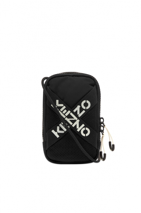 KENZO Cross Logo Black Phone Holder 0