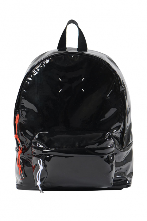 MAISON MARGIELA Black Shiny Backpack  0