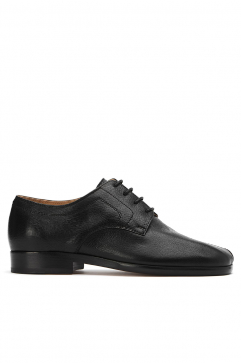 MAISON MARGIELA Black Tabi Lace-Up Shoes 0