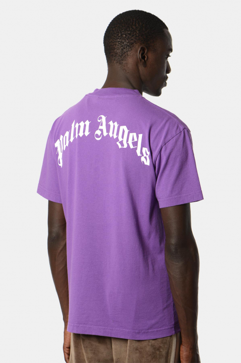 PALM ANGELS Purple Bear Tee  1