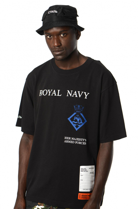 HERON PRESTON x MOD Black Royal Navy Tee 0