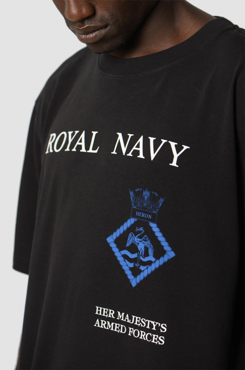 HERON PRESTON x MOD Black Royal Navy Tee 2