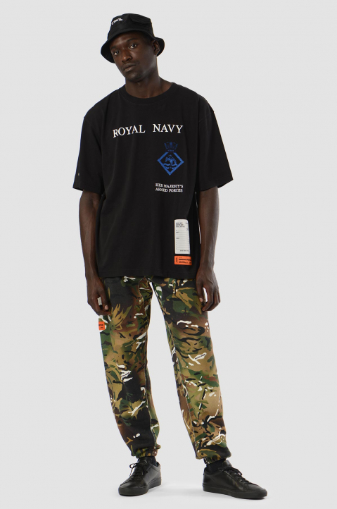 HERON PRESTON x MOD Black Royal Navy Tee 3