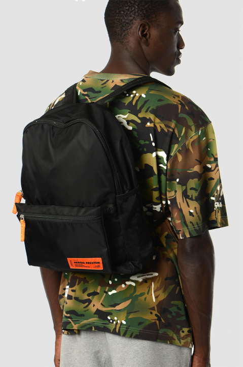 HERON PRESTON Black Fanny Backpack 6