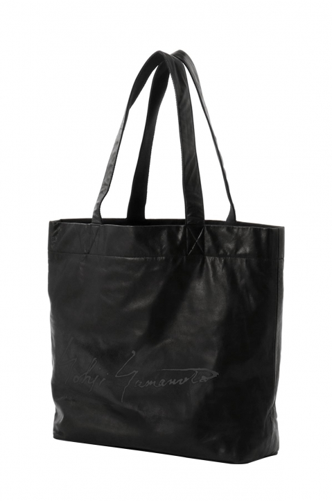 DISCORD Large Black Leather Tote 0