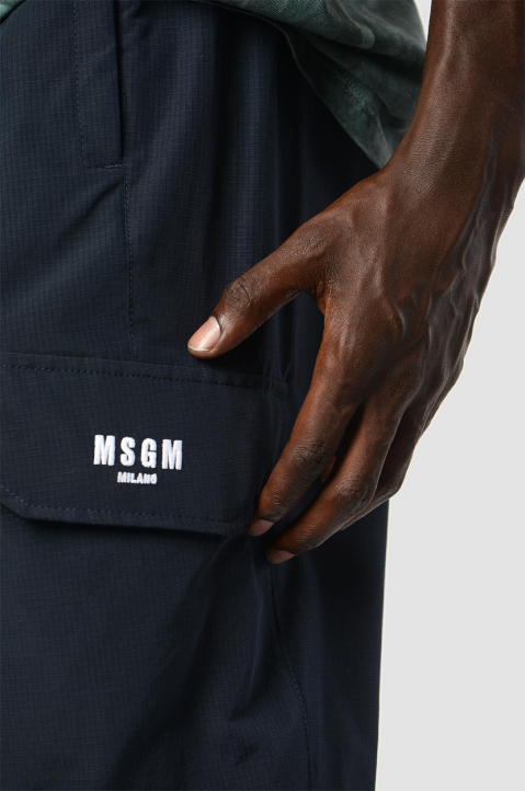 MSGM Navy Cargo Trackpants 2