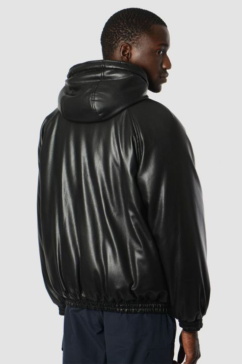 MSGM Faux Leather Puffer Jacket 1
