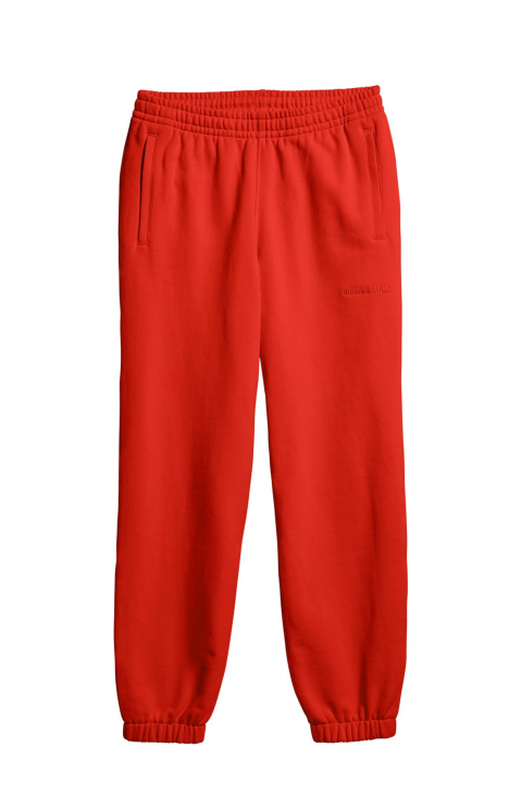 ADIDAS X PHARRELL WILLIAMS Human Race Premium Basics Red Sweatpants  0