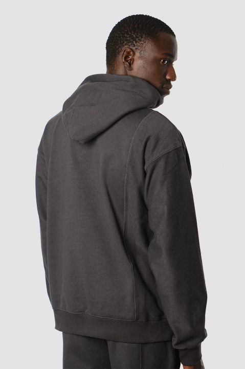 FENG CHEN WANG Terry Cotton Layer Grey Hoodie  1