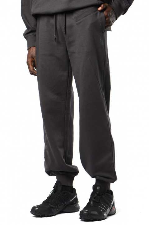 FENG CHEN WANG Grey Terry Cotton Layer Sweatpants 0