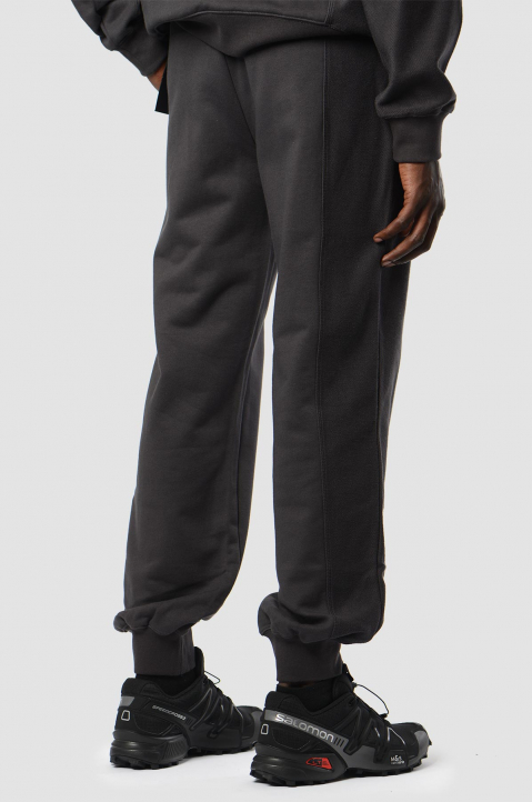 FENG CHEN WANG Grey Terry Cotton Layer Sweatpants 1