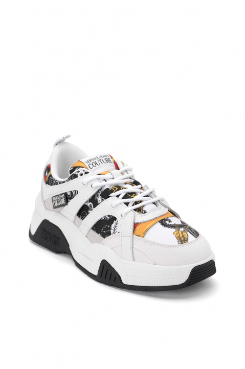 VERSACE JEANS COUTURE White Linea Fondo Fire Sneakers 1