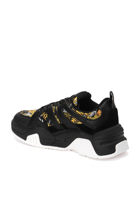 VERSACE JEANS COUTURE Black Linea Fondo Fire Sneakers 2