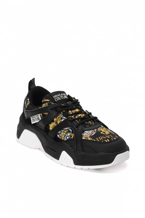 VERSACE JEANS COUTURE Black Linea Fondo Fire Sneakers 1