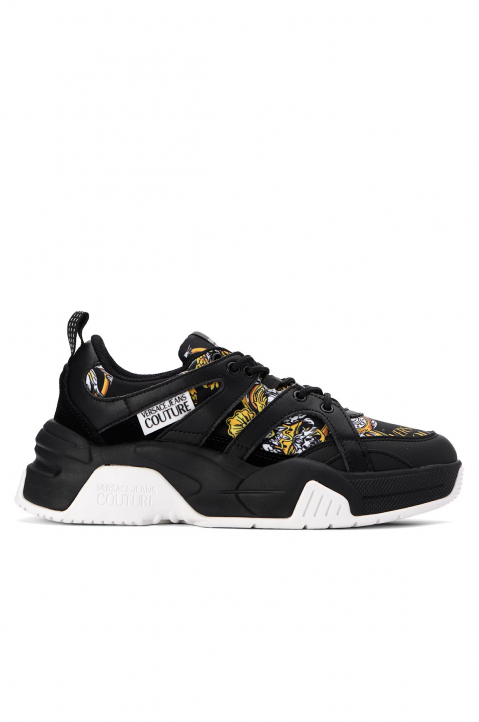 VERSACE JEANS COUTURE Black Linea Fondo Fire Sneakers 0